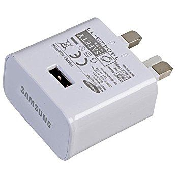 Genuine Samsung 5.0v 2.0A Note 2 S5 UK Mains Adapter - White EP-TA12UWE