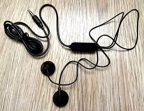 Alcatel Original Genuine ALCATEL CCB0049A12C1 Black 3.5 mm headset headphones and microphone