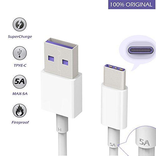New Genuine Original Huawei Type-C Super Fast 5A USB Charger Charging Date Cable