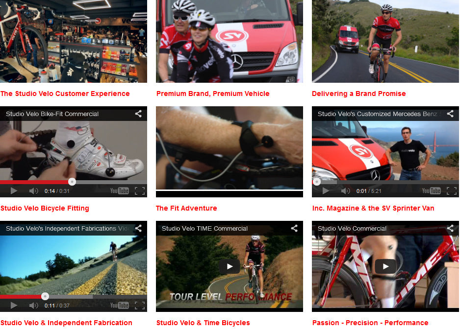 Studio Velo Cycling Videos