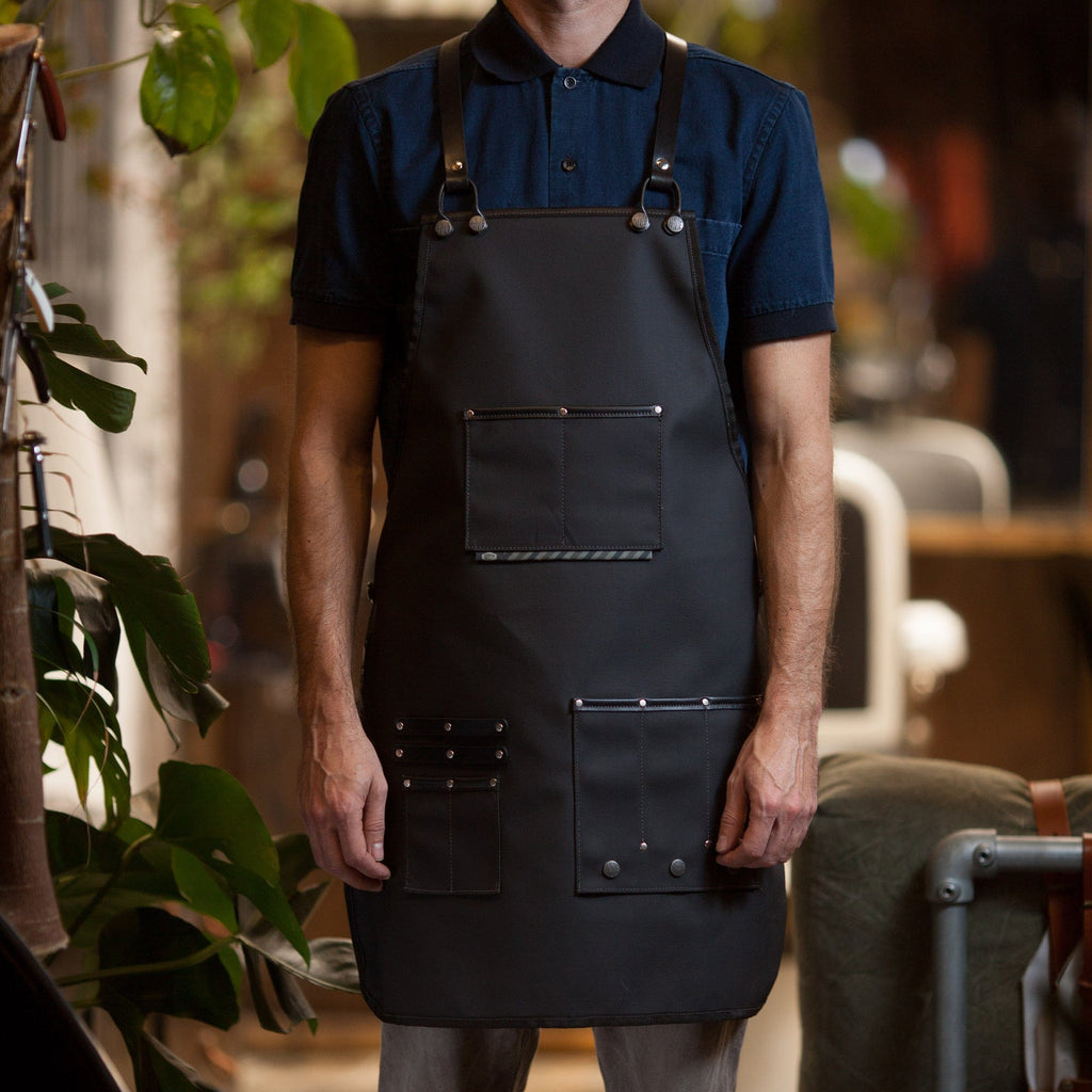 CHROME BARBER APRON - haviemnfct