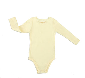 Ribbed Long Sleeve Onesie - Mouche Kids