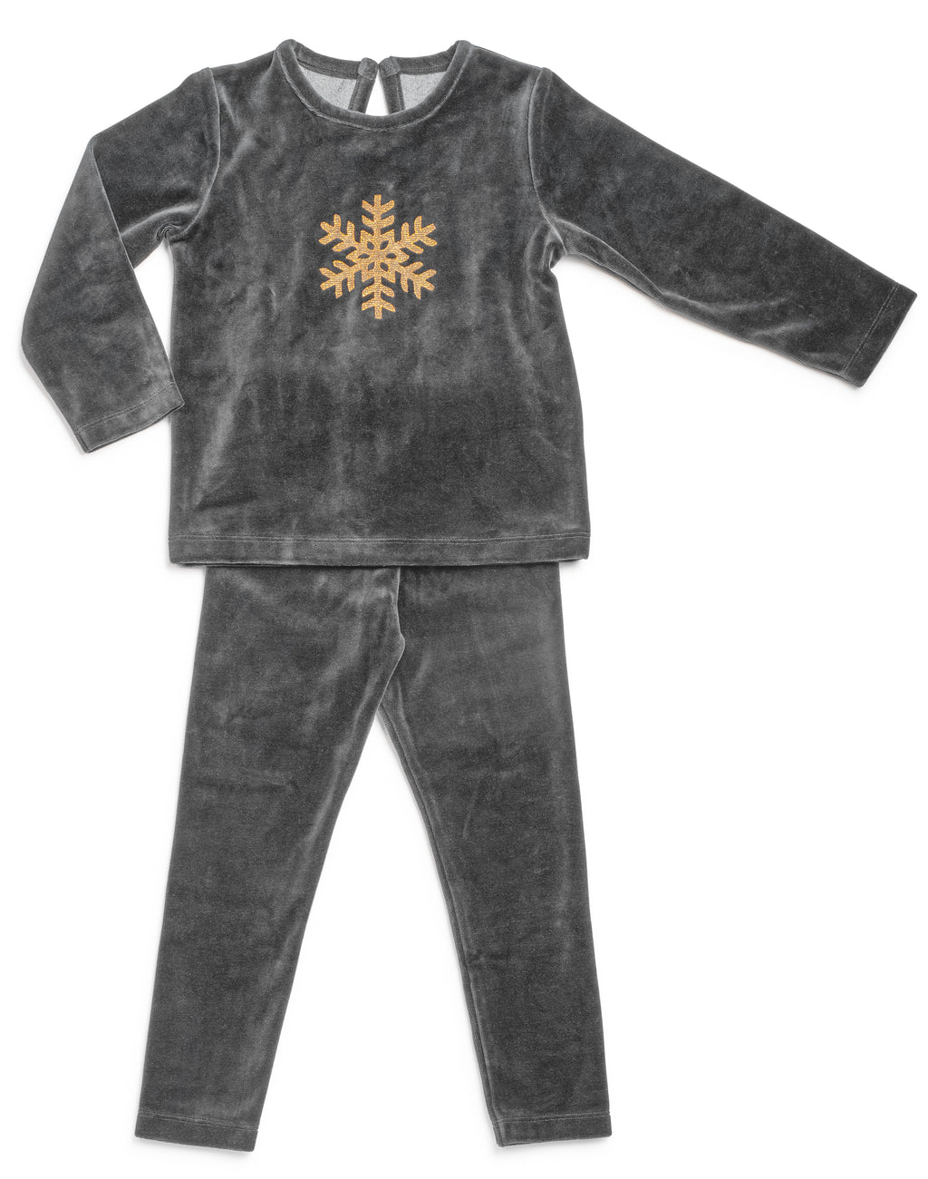 Sale! Grey Snow Flake Pajamas - Mouche Kids