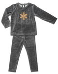 Grey Snow Flake Pajamas - Mouche Kids