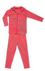 Girl's Striped Grandfather Pajamas - Mouche Kids