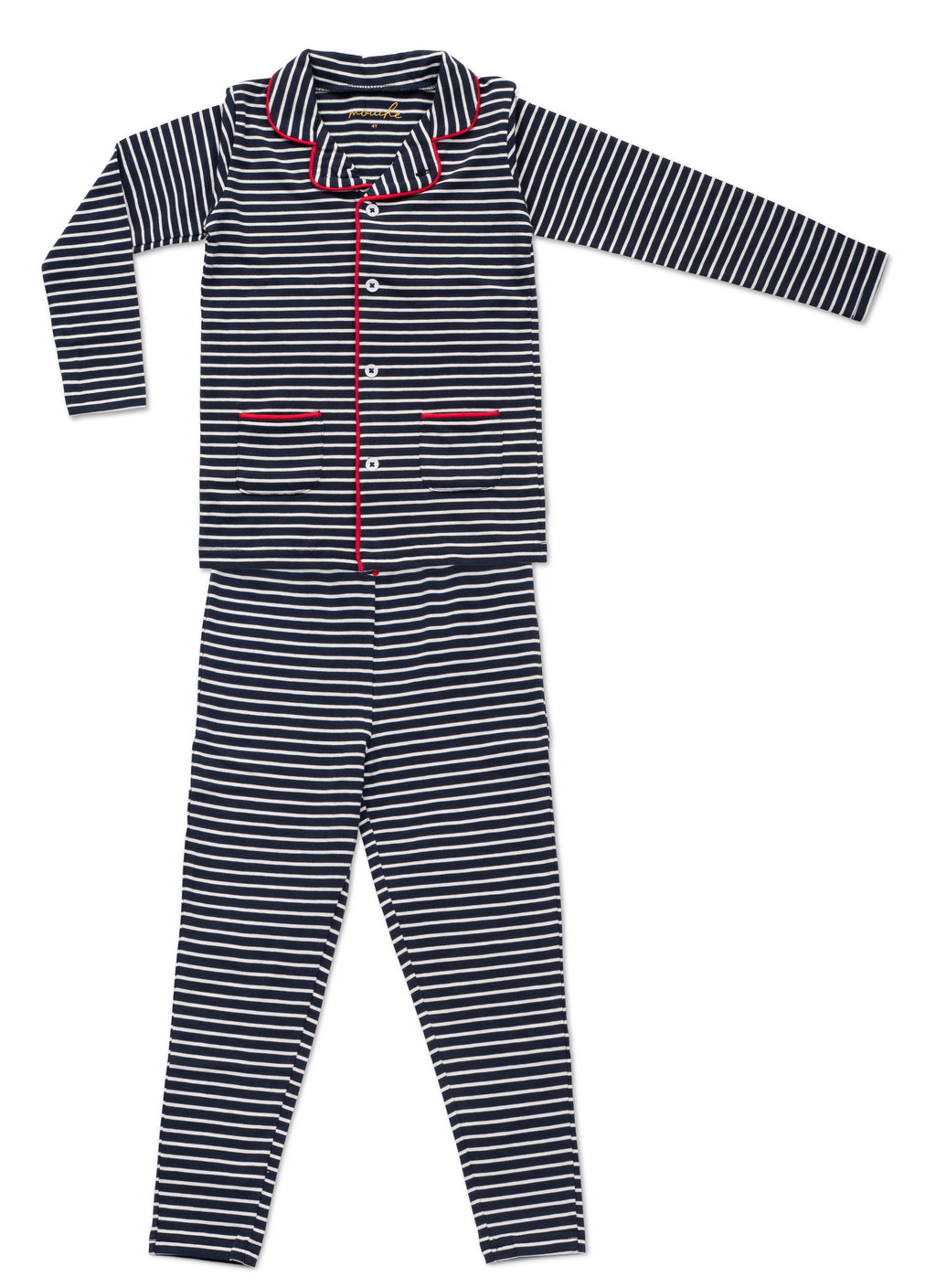Boy's Striped Grandfather Pajamas - Mouche Kids