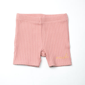 Cotton Ribbed Shorts - Mouche Kids