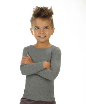 Ribbed Long Sleeve T-Shirt - Mouche Kids