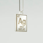 Ag Silver Periodic Pendant Sample<br>XS