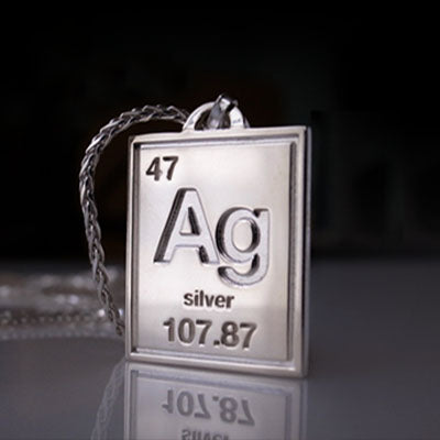 Ag Silver Periodic Pendant <br>Please Contact For Price <br>MADE TO ORDER