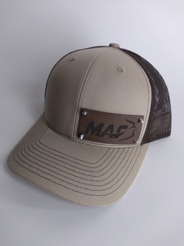 Trucker Cap with custom leatherette logo