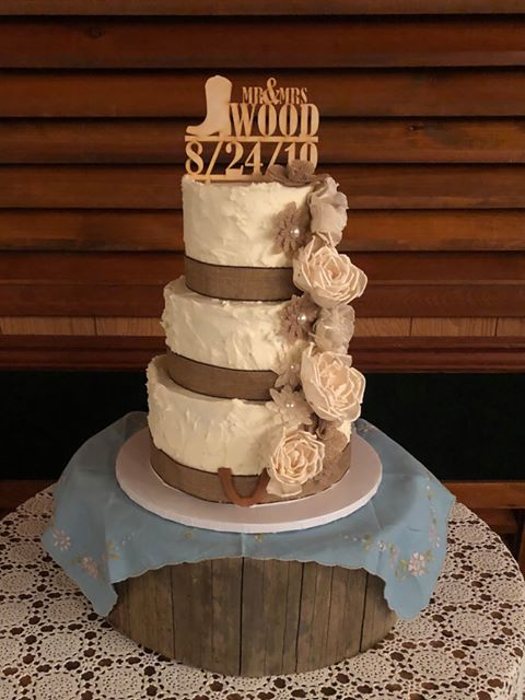 Custom Wooden Cowboy Cake Topper