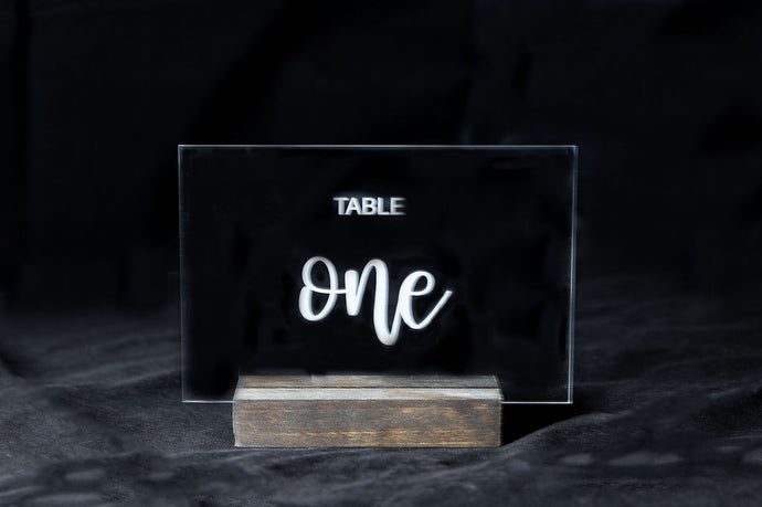 Acrylic Table Number Signs