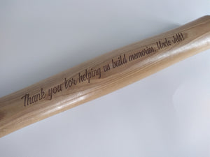 Laser Engraved Hammer with Custom Message