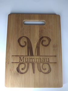 Monogram bamboo cutting board, Mother's Day, bamboo, gift, housewarming gift, wedding gift, anniversary gift