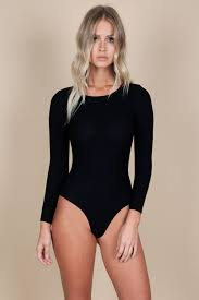 LONG SLEEVE ROUND NECK BODYSUIT
