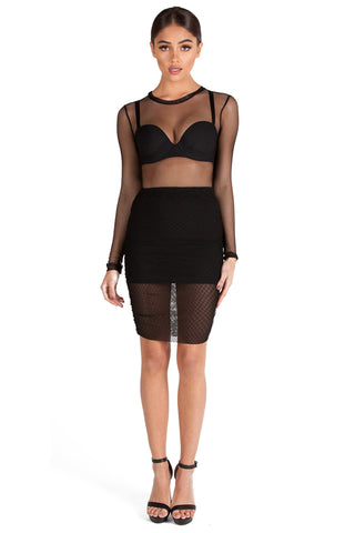 JUNGLE MESH SKIRT