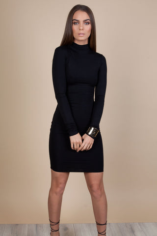 turtleneck-mini-dress