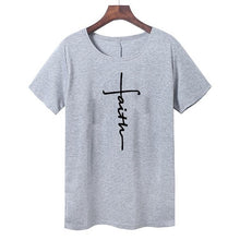Load image into Gallery viewer, Faith T-shirt for Women (100% cotton) - Rezmera