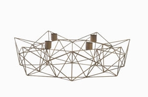 Geometric Brass Candle holder