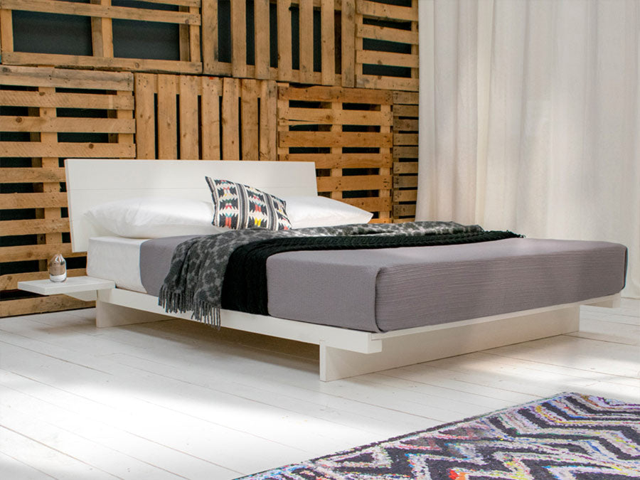 Low Fuji Attic Platform Bed with Headboard