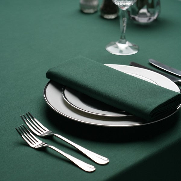 Forest Green Napkin & Tablecloth Set