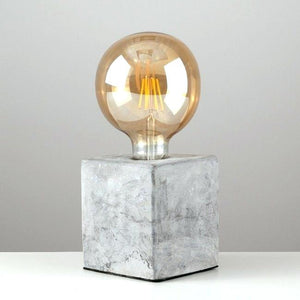 Industrial Concrete Table Lamp Set