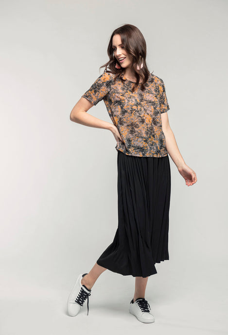 169 Abby Top - marble print & 480 Sydney Skirt - black satin  (2).jpg