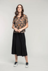 169 Abby Top - marble print & 480 Sydney Skirt - black satin .jpg