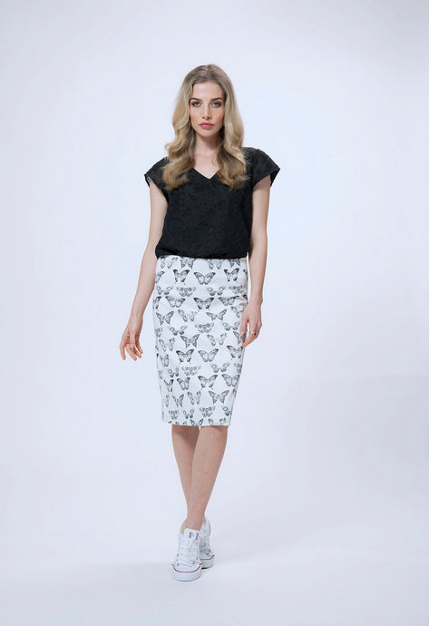 196 adele top - black & 187 debbie skirt - white butterfly.jpg