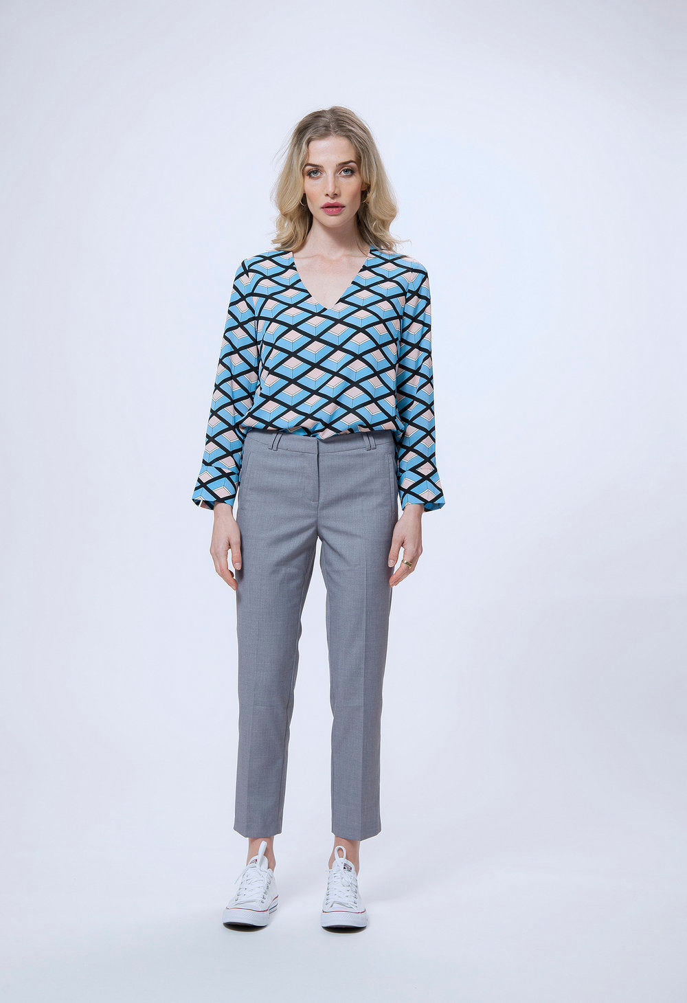 197 michelle top - blue deco & 174 rebecca pant - grey.jpg