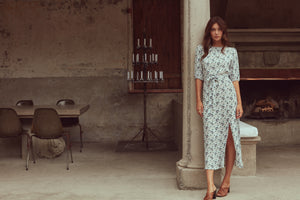 Mackenzie Dress | Teal Bloom