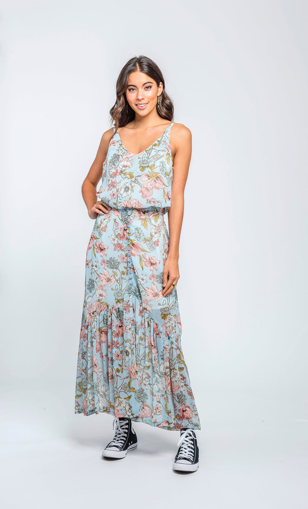 Claire Cami | Sky Floral