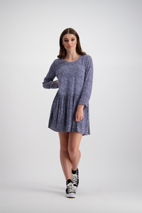 Susie Dress | Navy Ditsy