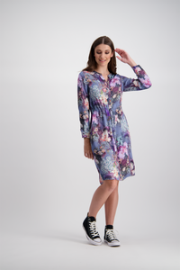 Celeste Shirt Dress | Lotus Flower