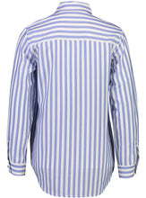 Load image into Gallery viewer, Vanessa Shirt Sky Stripe_Back.jpg
