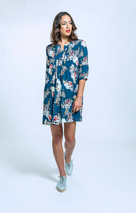282 Scarlet Dress - navy floral.jpg