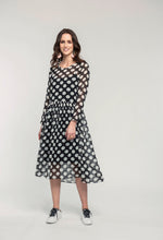 Load image into Gallery viewer, 295 Tamsin Maxi - black polka  (1).jpg