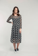 Load image into Gallery viewer, 295 Tamsin Maxi - black polka  (3).jpg