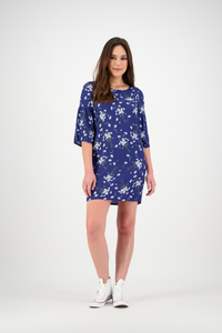 Sally Dress | Navy Daisy