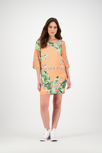 Sally Dress | Peach Iced Tea