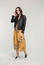 Load image into Gallery viewer, 315 Leather Jacket - black & 478 Jasmine Maxi - honey bouquet .jpg
