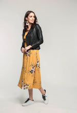 Load image into Gallery viewer, 315 Leather Jacket - black & 478 Jasmine Maxi - honey bouquet  (1).jpg