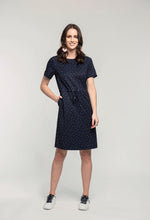 Load image into Gallery viewer, 319 Maddy Dress - sapphire spot  (2).jpg