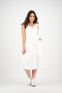 Isabella Dress | Chalk White
