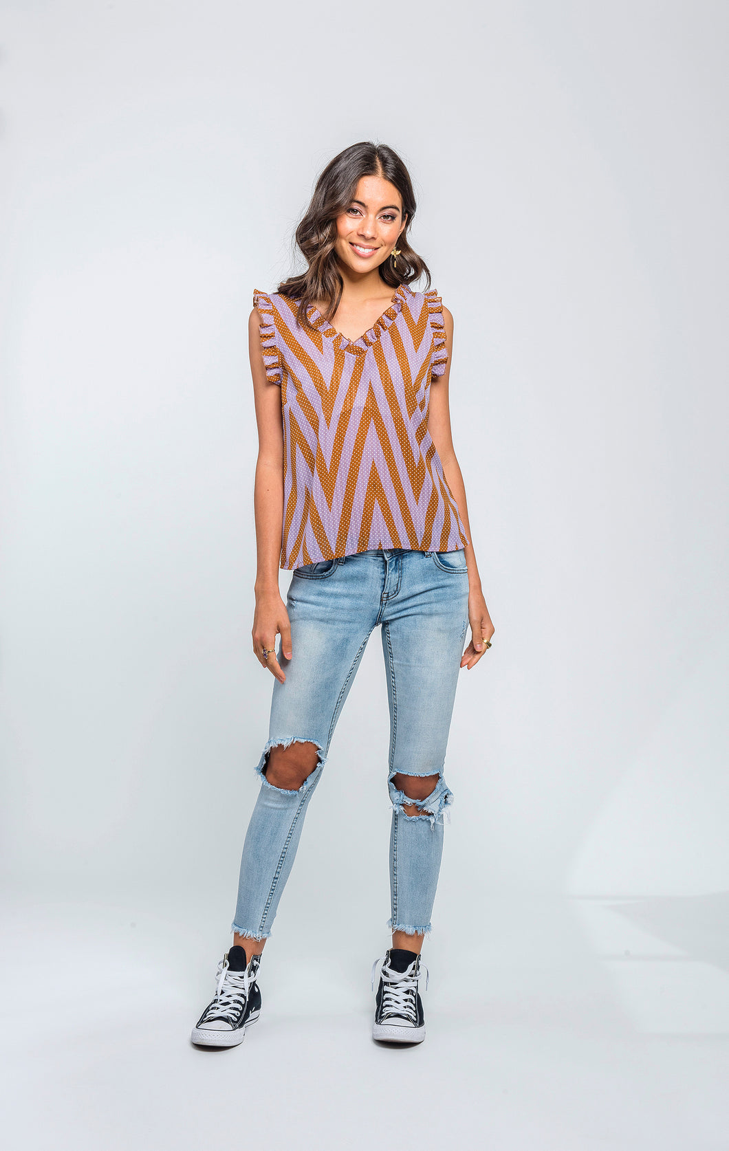 Ella Top | Chevron Spot