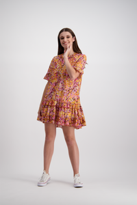 Annabelle Mini Dress | Tropical Pansy