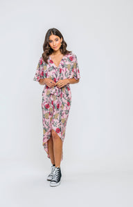 Kendal Dress | Flamingo Floral