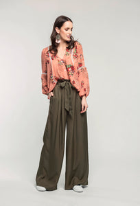 459 Brielle Top - coral pixel & 476 Marie Pants - military green  (1).jpg