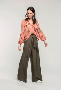 459 Brielle Top - coral pixel & 476 Marie Pants - military green  (3).jpg